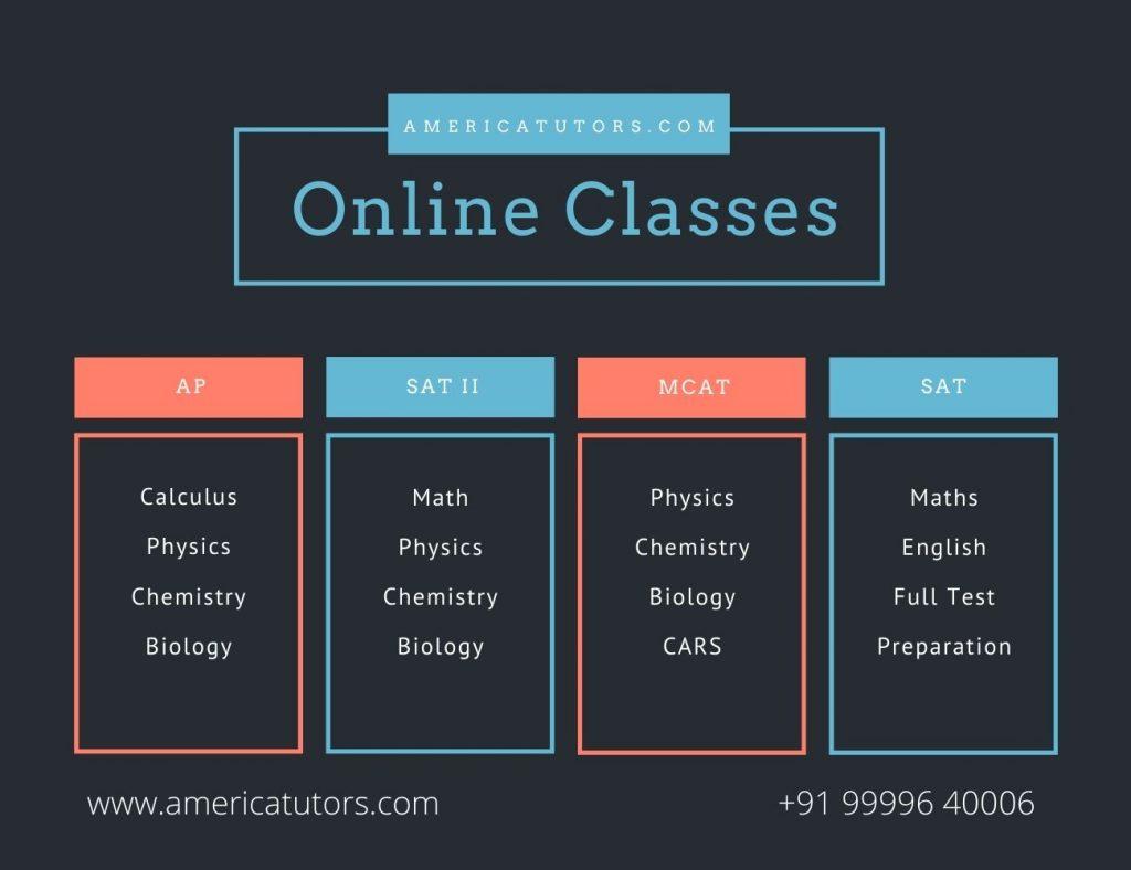 Online America Tutors-Teachers from India for MCAT-AP-Subjects-SAT-II-SAT-Math-Physics