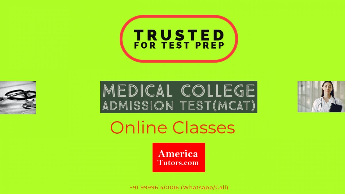 MCAT Online Test Prep Course Tutor Tuition