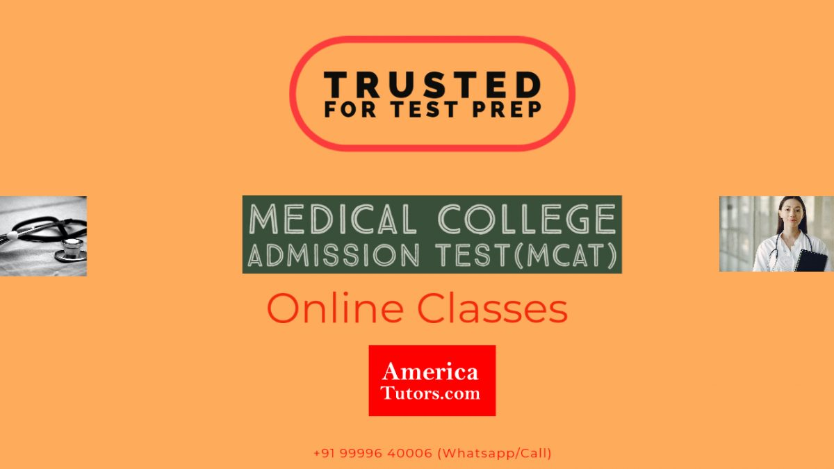MCAT ONLINE CLASSES FOR TEST PREPARATION